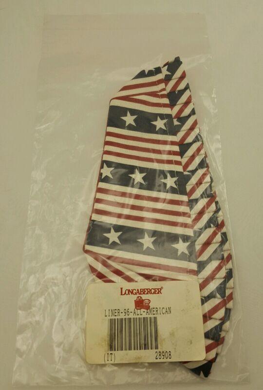 Longaberger 1996 Summertime Basket Fabric Liner All American 28908 NEW