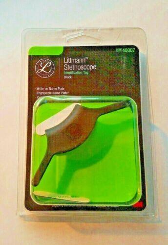 Littmann Stethoscope ID Tag Black Identification Tag Label 40007 New