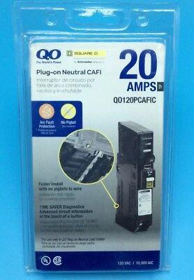 New Circuit Breaker Square D Qo120pcafi 20 Amp 1 Pole 120v Plug-on Neutral Cafi