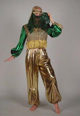 Suleika grün/gold Kostüm 36-42 Bauchtänzerin Jeannie Jasmin Bollywood 1211654G13
