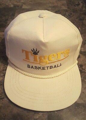 b8bbfccde5d Vintage Snapback Missouri Tigers MU Basketball MIZ Retro Hat White Gold