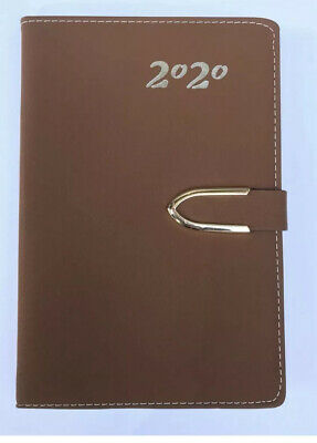 2020 Daily Planner.journal.calendar Organizer Tabbed Magnetic Closure Brown 5x8