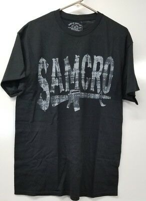 Sons Of Anarchy Samcro Grey And Black  T Shirt  Multiple Sizes   Samgrar