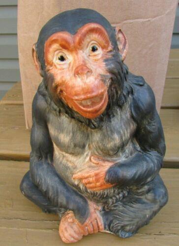"Vintage Japan ? Pottery Ceramic Chimpanzee Monkey Figurine 7"" Tall"