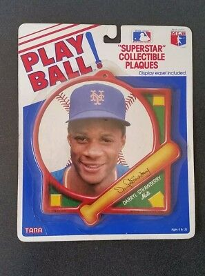 """Vintage 1988 NY New York Mets DARRYL STRAWBERRY """"Superstar"""" Collectible Plaques"""