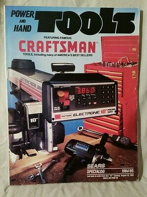 Sears Craftsman Power and Hand Tools Catalog Vintage 1984 1985