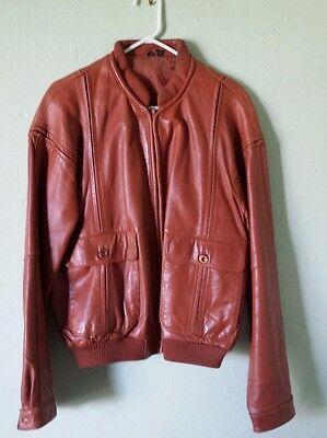 VTG 70'S Fantastic International Fashions Leather Jacket BUTTERSCOTCH Mens 44