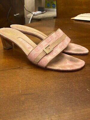 Versace Sandals Pink Vero Made In Italy 7.5