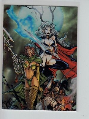 Medieval Single - Lady Death Medieval Witchblade - HOLOCHROME Chase Single card C1 (1 of 6)