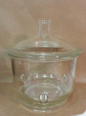 Corning Pyrex Glass 7.5l Large Knob Top Desiccator 250mm Id For 230mm Plate 3080