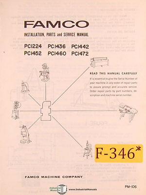 Famco Pc1224 Pc Series Shear Install Parts And Service Manual