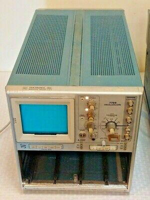 Vintage Tektronix Oscilloscope 7704 Machine Tested Working System Rare W Plug