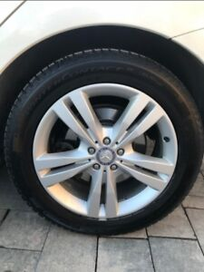 "19"" Mercedes OEM ML/GL Mags with Continental Winter Tires"