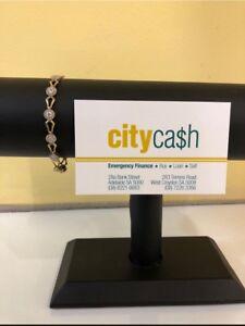 9ct Gold/Diamond Bracelet Adelaide CBD Adelaide City Preview