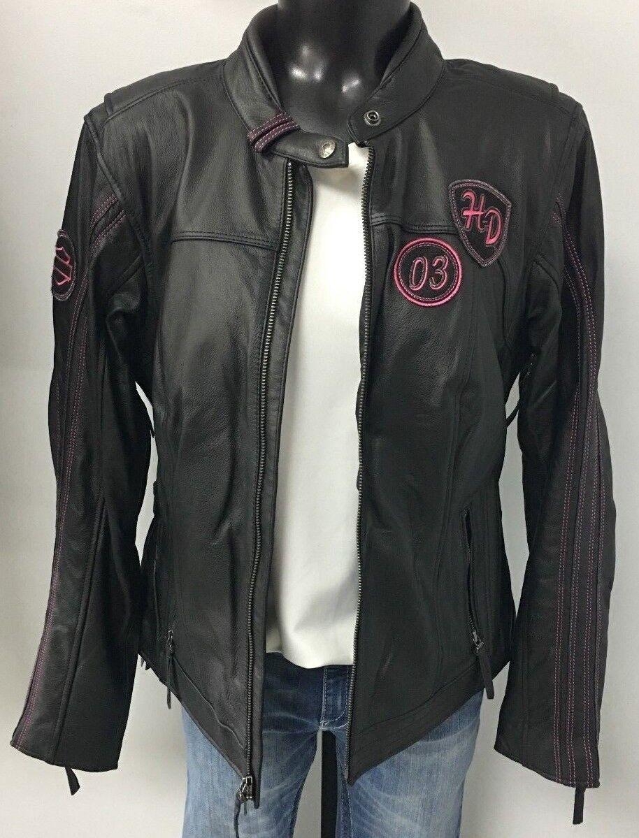 Harley-Davidson Women/'s Tee Pink Label Metallic Bar /& Shield 99119-15VW