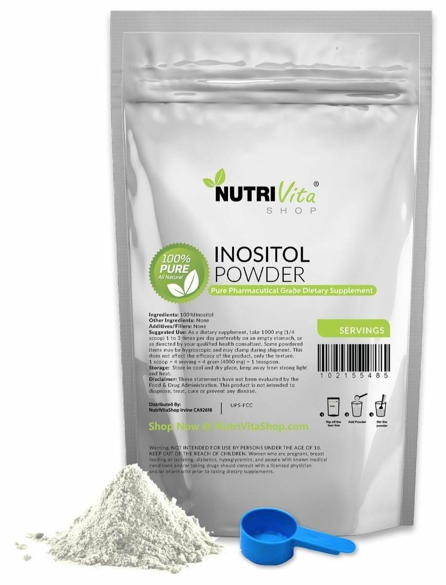NVS 100% PURE INOSITOL POWDER PHARMACEUTICAL GRADE MOOD STRESS ANXIETY NONGMO