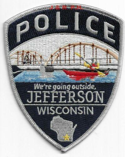 "*NEW*  Jefferson, Wisconsin  (4"" x 5"" size)  shoulder police patch (fire)"