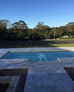 Silver tumbled Travertine tiles and pavers Seven Hills Blacktown Area Preview