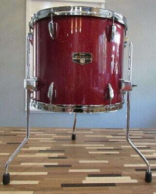 "Recent Tama Imperialstar 14"" x 12"" Deep Candy Apple Mist Wrap Floor Tom Drum"