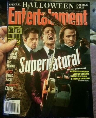 ENTERTAINMENT WEEKLY MAGAZINE SUPERNATURAL HALLOWEEN ISSUE OCT 21-27 2017 - Supernatural Halloween 2017