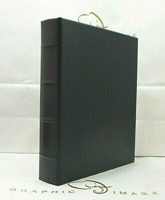 Graphic Image Medium Leather Photo Album 3 Ring Binder Clear Pockets Navy Medium Photo Album