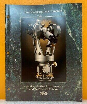 Brunson Instrument Company Optical Tooling Instruments Accessories Catalog.