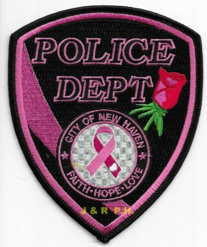 """*NEW*  New Haven - Pink, MO (4"""" x 5"""" size)  shoulder police patch (fire)"""