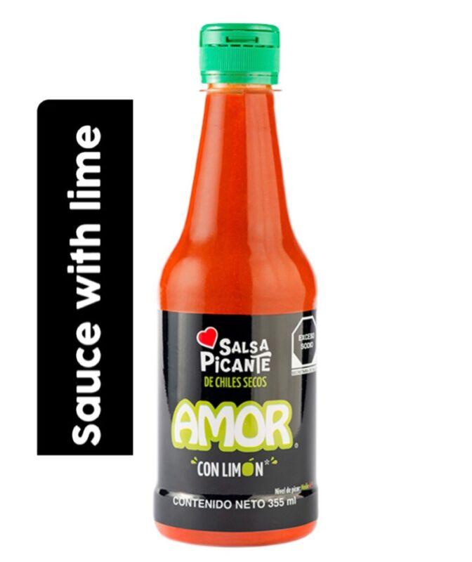AMOR SALSA PICANTE LEMON MEXICAN SAUCE 355 ML *FREESHIPPING*
