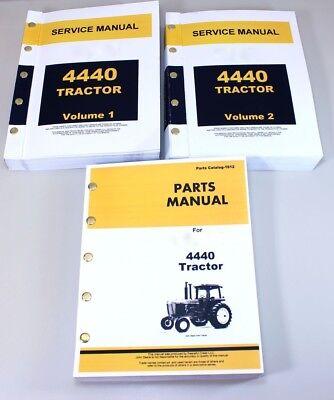 Service Manual Set John Deere 4440 Tractor Diesel Repair Parts Catalog Technical