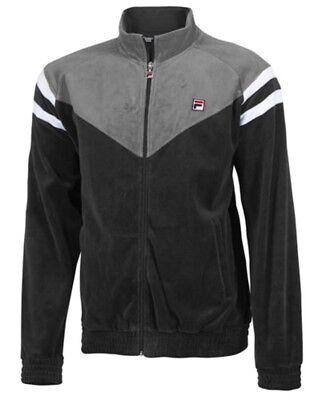 Contrast Yoke (Rare !! Sold out !! Men's Fila Contrast Yoke Velour Sport Jacket Size Large)