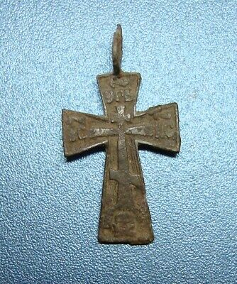 Ancient byzantine bronze cross  Circa 11th Century AD
