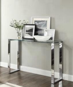 Glass console hallway table