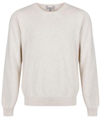 """Men`s New Marks & Spencer Crew Neck Cotton Jumper Size Large 42"""" Light Beige"""