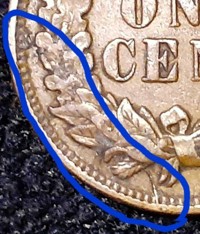1907 Indian Head 1Cent Penny VF++ Rev Die Crack Rare U.S. Coin IH712 Make Offer.