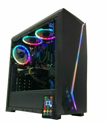 Gaming PC Desktop Computer RGB i7 Intel 2TB HDD 8GB RAM GTX 1060 Nvidia