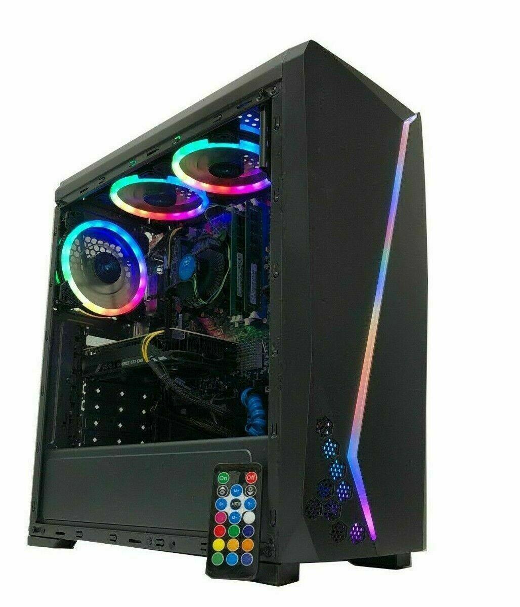 Gaming PC Desktop Computer RGB i7 Intel 2TB HDD 8GB RAM GTX
