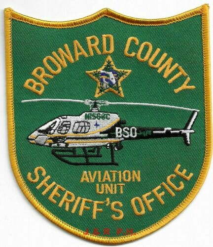 "Broward Co. Sheriff  Aviation Unit, FL (4.25"" x 5"") shoulder police patch (fire)"