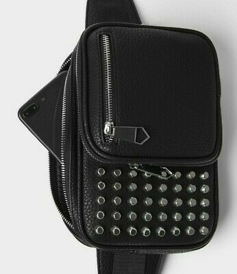 Zara Studded Crossbody Bag Fanny Pack Shoulder Belt Waist fashion backpack men