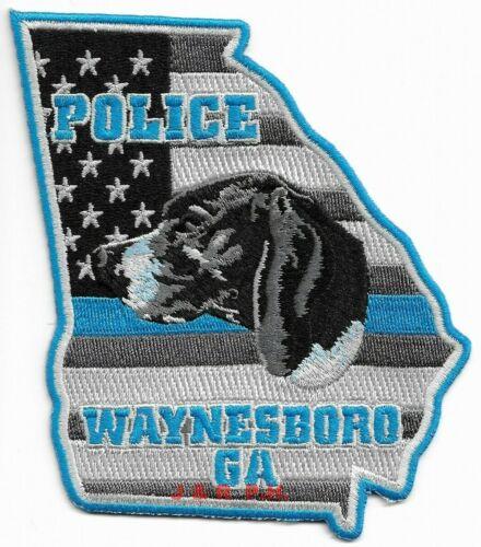 """*NEW*  Waynesboro  K-9, Georgia  (4"""" x 4.75"""" size) shoulder police patch (fire)"""