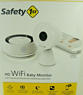Safety 1st HD WiFi Streaming Baby Monitor Camera w/ Sound & Movement Detecting