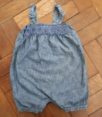 Girls Baby Gap Chambray Romper Playsuit Age 18-24 Months