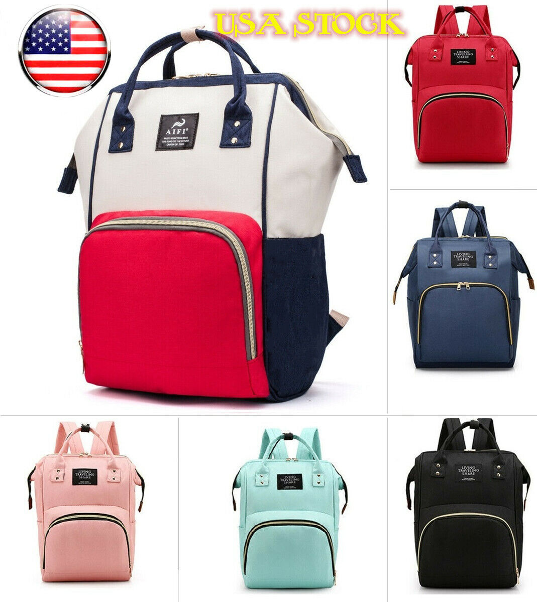 Diaper Nappy Bag, Mommy Maternity Baby Travel Backpack Handb
