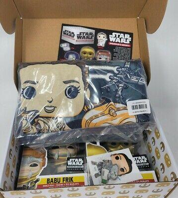 Star Wars Smugglers Bounty The Rise Of Skywalker Funko Pop Box Babu Frik 3PO Lg