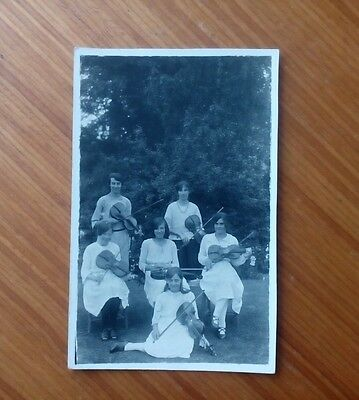 Vintage* Six young ladies with Violins and Bows. Percy Simms. Chipping Norton