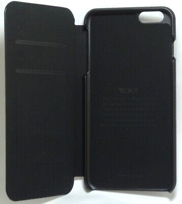 Tumi Leather Folio Case with card slots for iPhone 6 Plus and 6s Plus - Black Black Leather Folio Case