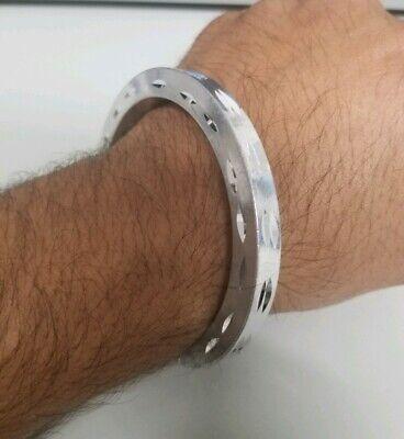 Stunning Silver Look ChunKY Aluminium Singh Kaur Kara Sikh Hindu Bracelet J14