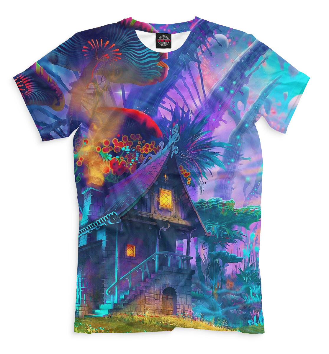 Psychedelic tee - abstract rave tshirt EDM clothing fantasy goa psy festival