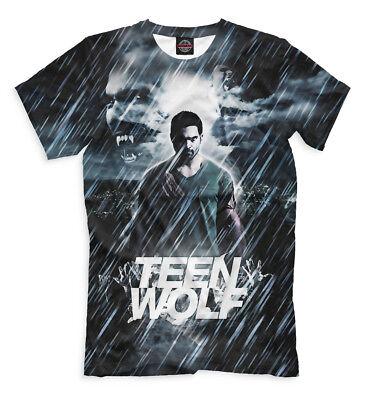 Teen Wolf art t-shirt American TV series Supernatural Tyler Hoechlin Derek Hale  ()