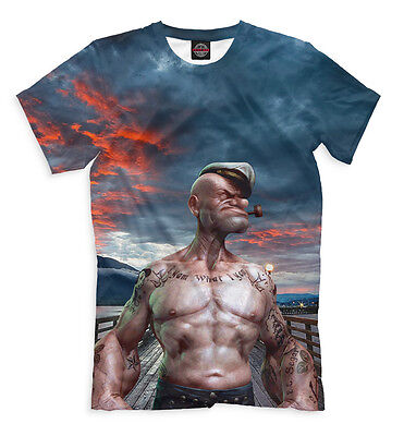 Popeye the Sailor t-shirt - body-builder style tee old school superhero hunk