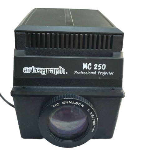 Vintage Artograph MC 250 Professional Art Projector w/ MC Ennagon Lens & Bulb
